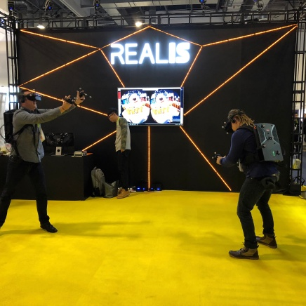 VR - interactive snowball fight