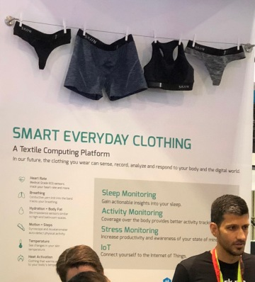 Wearables - smart underwear with sensors